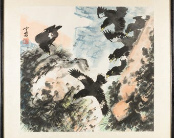Zhao Ning'An watercolour Chinese painting