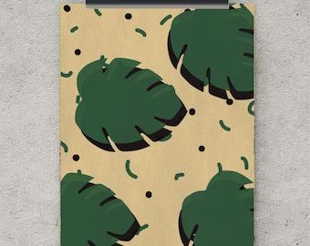Palm leaf, retro print, retro poster, tropical leaf print, retro art, wall art prints, digital paper, printable art, digital download, print