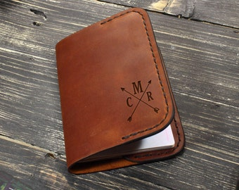 Personalized Leather Passport Cover, Custom Gift for Men, Groomsmen Gifts, Birthday Husband Gifts, Christmas Gift for Boyfriend, Mens Gift