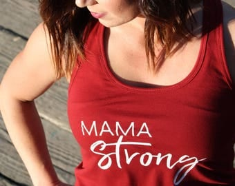 Mama Strong Tank / Mom Tank / Mom Shirts / Gifts for Mom / Mother's Day Gift / Mommy & Me Shirts / Matching / Kid's T-Shirt / Graphic Tee