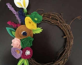 Blooming spring time wreath