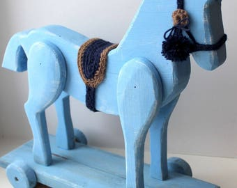Hand made wood russian horse.