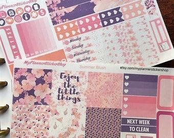 Mini Happy Planner / Summer Blush kit / Weekly Sticker Kit