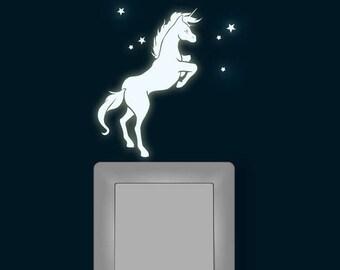 Light sticker Unicorn fluorescent light switch