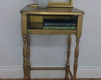 Gold Painted Accent Table