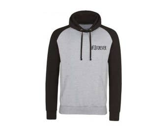 18forever Baseball Hoody (Grey & Black)