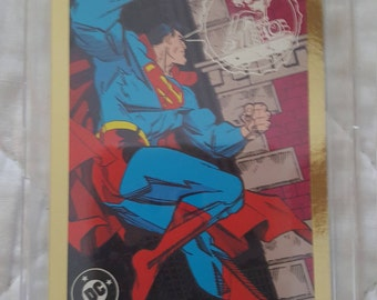 1993 Skybox Wizard Press Certified Sealed Superman Gold Foil Promo Card