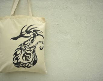 Hand Painted Handbag (Dragon)- Unique Gifts