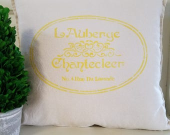 Handmade Pillow Cover Parisian Themed