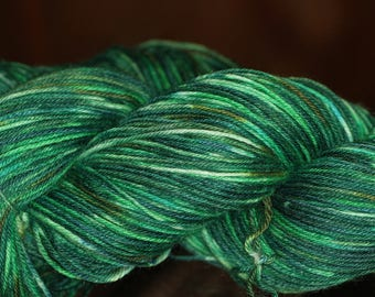 Hand Dyed 'Grotto' 4 ply Australian Sock Yarn 100 grams