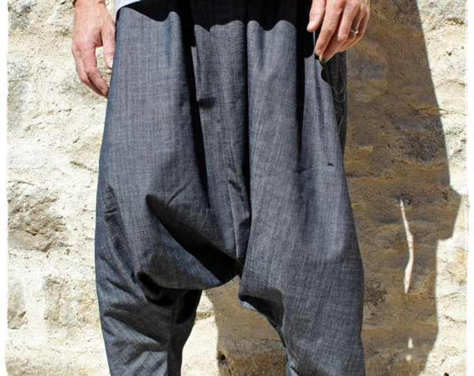 Black Denim Baggy Harem pants for men