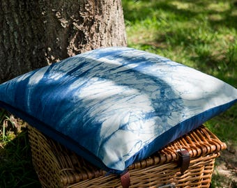 Hand-dyed Indigo Cushion Cover