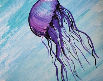 Watercolor Painting:  JellyFish
