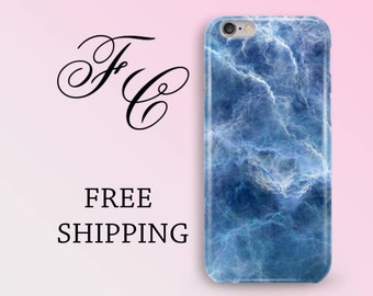 iPhone 5/SE Case Marble iPhone X Case Blue Marble Case iPhone 5s Case iPhone 7 Plus Case Marble Phone Case iPhone 7 Case iPhone 8 Plus aaf