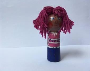 Pink Hans finger doll