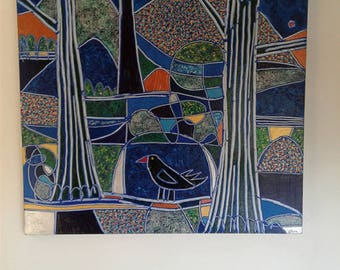 Blackbirds in a Metallic Landscape