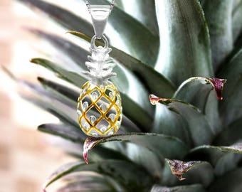 Pineapple Gold Necklace Pendant
