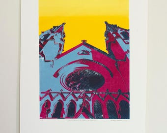 Cathedral of St. John the Baptist - 5 color screen print (4/6)