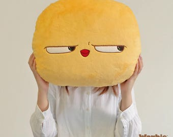 Warbie Plush Pillow by Arut (Cute, soft, huggable and comfy sassy yellow bird pillow)