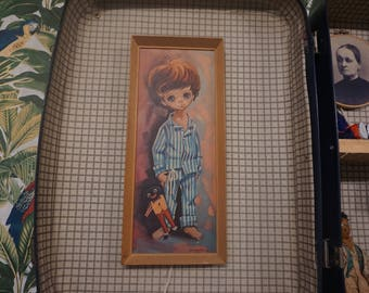 Retro 1960's Robert D. Golding boy in pyjamas print