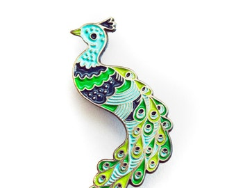 PEACOCK Enamel Pin - Gift for Her - Christmas Gift for Women - Pin Brooch Peacock Brooch Flair Pingame Cloisonné Enamel Pin