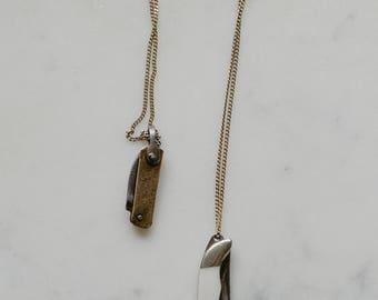 Mini Pocket Knife Necklace