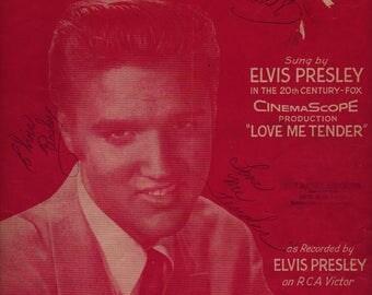 Love Me Tender - Elvis Presley and Vera Matson - 1956 - Vintage Sheet Music