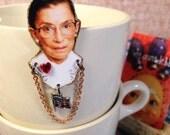 Ruth Bader Ginsburg Brooch Supreme Court Justice Notorius RBG feminist
