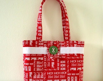 Christmas Purse, Red and White, Ho Ho Ho, Holiday Handbag, Baby's first Christmas, Little Girl's first purse, Santa visit, Christmas parties