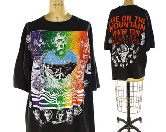 90s Grateful Dead Concert Shirt / Vintage 1993 Tour T-Shirt / Deadhead Collectible / California Mini Tour LA San Diego Oakland / Extra Large
