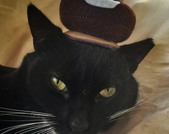 Poop Emoji Cat Hat - Poop Emoji Costume for Cats