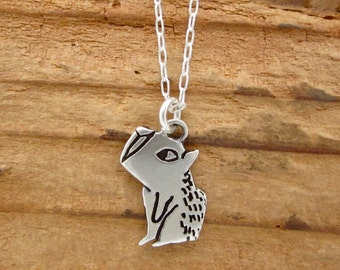 Sterling Silver Capybara Necklace - Cute Capybara Pendant