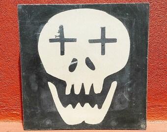 Handmade Yucateco Pasta Tile. Mexican Skull.