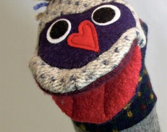 wool puppet named Elly