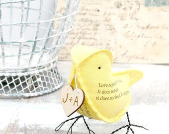 2nd Year Wedding Anniversary Gift Cotton Poem - Love is Patient Corinthians 13:4-7