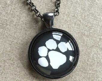 Dog Paw Print Necklace -  Paw Print Jewelry -Dog Jewelry - Paw Print Jewelry - Paw Print Pendent - Gift for Dog Lover