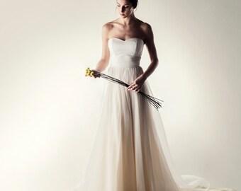 Wedding dress, Boho wedding dress, Corset wedding dress, Two piece wedding dress, Wedding separates, Simple wedding dress, Strapless dress