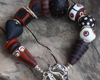 Kamala Handmade Lampwork Artisan Bracelet