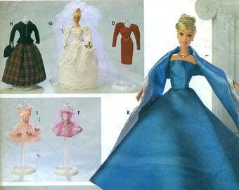 Simplicity 8481 BARBIE Fashion Doll Clothes FORMAL GOWNS Elaine Heigl Designs ©1998