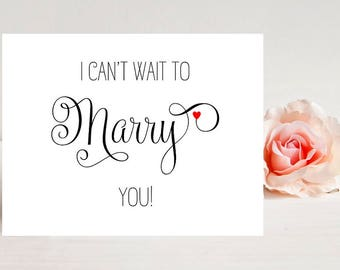 Card for Groom - Card for Fiance - I Can't Wait to Marry You - Wedding Card for Fiance