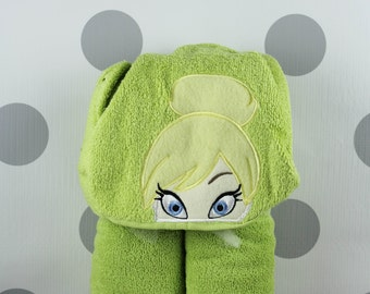 Kid's Hooded Towel - Tinkerbell Hooded Towel – In Stock READY TO SHIP - Tinkerbell Towel for Bath, Beach, or Swimming Pool