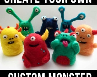 Custom Needle-Felted Monster