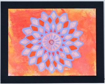 Original Expressive Mandala Painting: Inner Glory