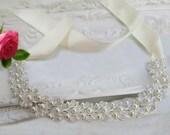 Sale pearl bridal sash, bridal belt, wedding sash, rhinestone belt ,rhinestone sash, crystal belt , wedding dress belt, wedding dress sash