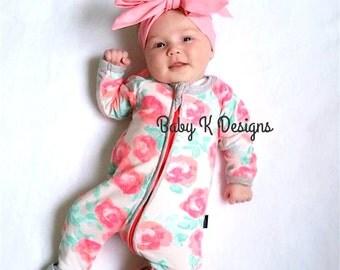 Newborn Head Wrap Pink Baby Headwrap. Headband Bow InfantToddler Girl Cotton DIY Headband Big Bow Turban Dress Sash Big head band messy  bow
