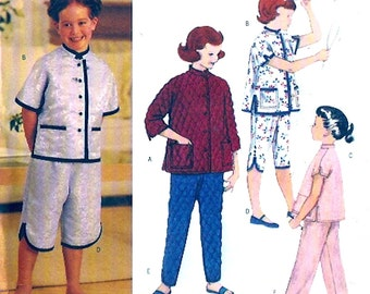Girls Cheongsam outfit Asian style top jacket pants Retro 55 re issue sewing pattern Butterick 3319 Size 2 to 5 UNCUT