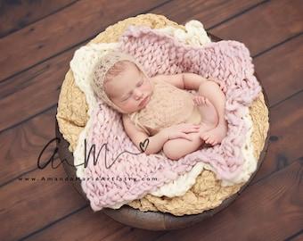 Baby Romper & Hat , Kid Mohair Bonnet, Newborn Photo Props,  U Choose Color