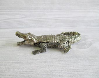 Little Vintage Alligator Trinket Box