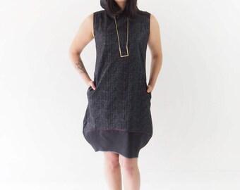 Black dress, Woman Sleeveless hooded dress, Fashion Women & Teenager Steampunk, Cosplay and Gothic dress, Woman Apparel