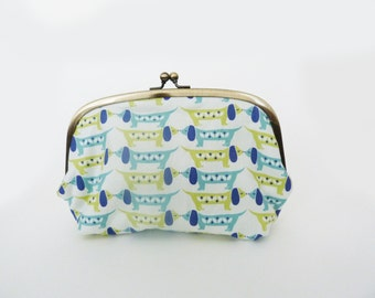 Cosmetic bag, dachshund fabric, sausage dog fabric, cotton pouch